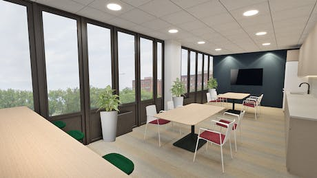 Design proposal of a cafeteria at a Federal Building in Rochester