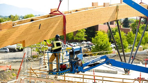 Construction of the Idaho Central Credit Union Arena. Image: University of Idaho