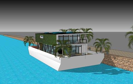 SleepAFloat Housingboat concept