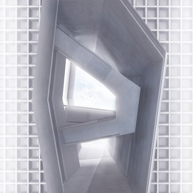 View looking up through Lightwell