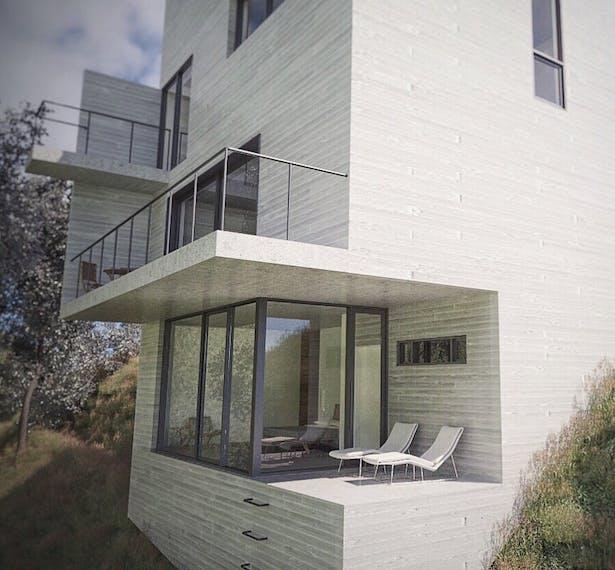 Exterior rendering / Terrace
