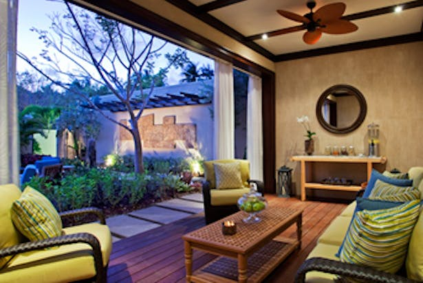 Outdoor lounge at Remede Spa