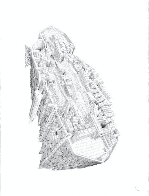Hand-Drawn Category Winner: Dear Hashima, architect/artist Marc Brousse