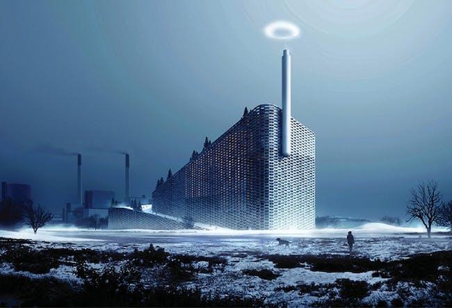 Rendering of BIG's Steam Ring Generator for the clean-power plan in Copenhagen, slated for completion in Copenhagen in 2017. Image via Kickstarter.