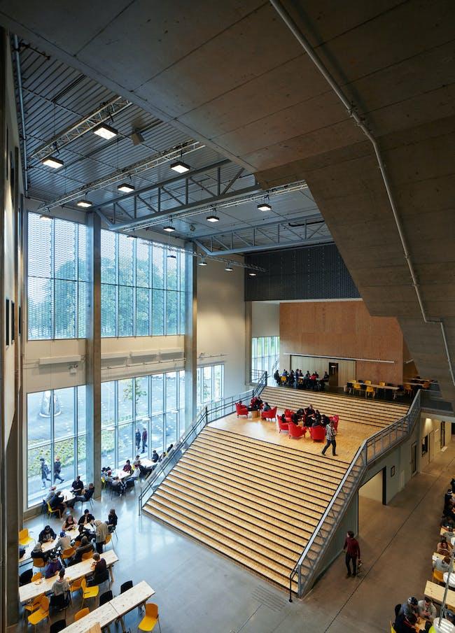 Faerder High School in Tønsberg, Norway by White Arkitekter A/S; Photo: Åke E:son Lindman