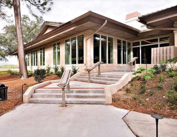 Photograph of exterior addition completed