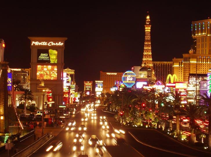 The Las Vegas strip, courtesy of 'Cheap Las Vegas'.