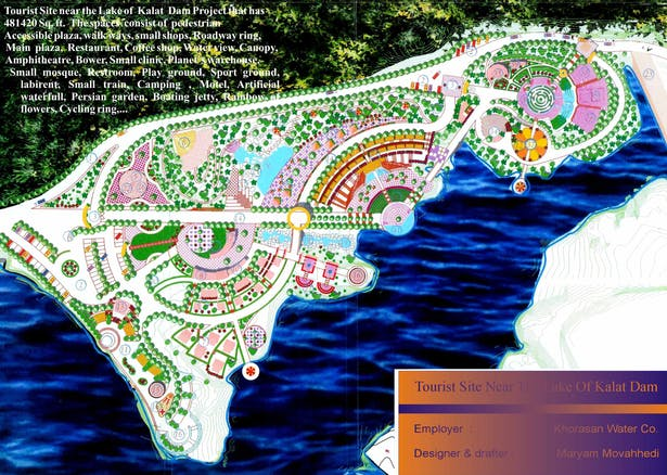 Kalat Dam Beautification - Park design