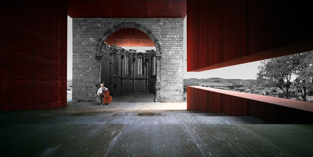 AQSO arquitectos office. Atienza concert hall. Interior