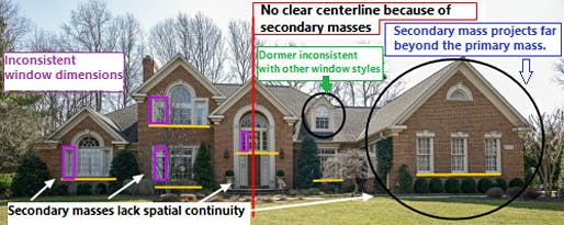 Proportion? We don't need no stinkin' proportion...Image: McMansionhell tumblr