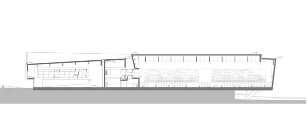 Sports Complex Project -Section Drawing