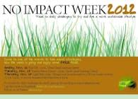 No Impact Week Poster