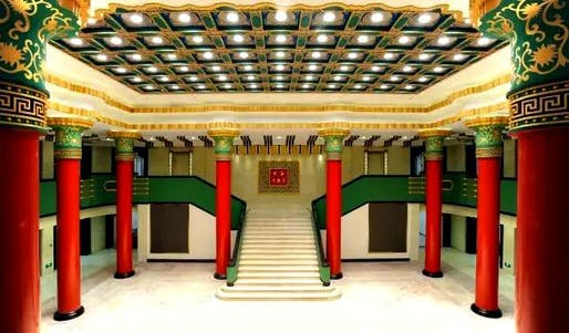 Interior of the DaHua Cinema in Nanjing. Photo: Bespoke Shanghai, via shanghaiartdeco.net.