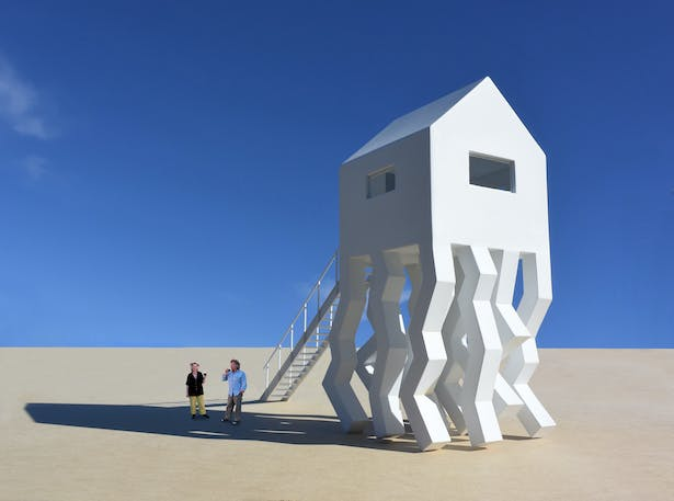 A functional art structure for those who want to use their art instead of just looking at it.