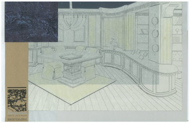 Classic Style Dining   Interior Hand-Sketch