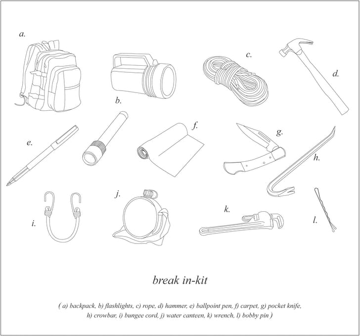 Break in-kit, from 'A Practical Guide to Squatting'