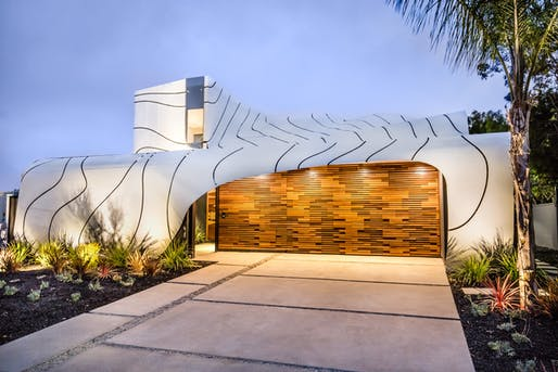 The Wave House by Mario Romano in Venice, California. Image via Partners Trust | Los Angeles Real Estate/YouTube.