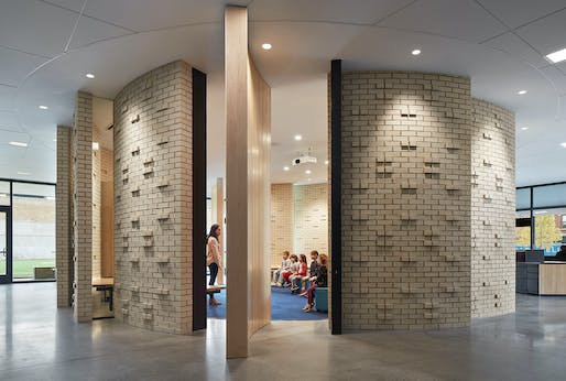 Bernard Zell Anshe Emet Day School: Makom Rina, Wheeler Kearns Architects. Photo: Steve Hall, Hall + Merrick Photographers.