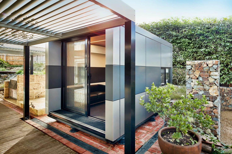 office pods. Harwyn Office Pod. Photography © Harwyn. Pods