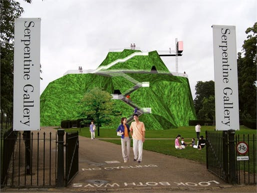 Serpentine Gallery Pavilion 2004 © MVRDV, via vogue.it