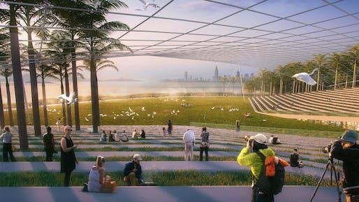 Coastal Park – Egret Lawn at dawn
