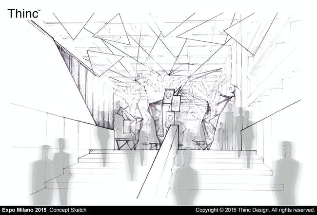 Expo Milano 2015: Concept Sketch. Copyright © 2015 Thinc Design. All rights reserved.