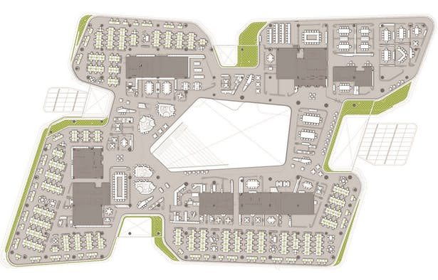 Unilever Headquarters, Jakarta, Indonesia - L2 Floor Plan
