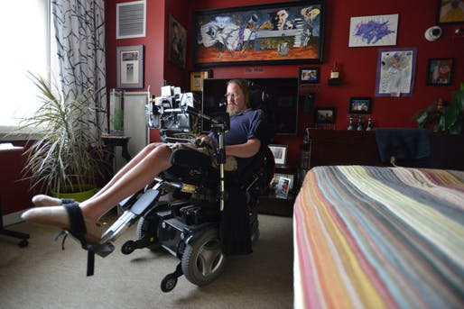 Steve Saling in his home. Photo: Josh Reynolds, via STAT.