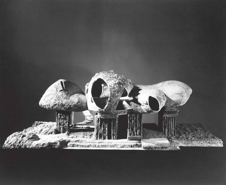 The 'Endless House' by Friedrich Kiesler. Image via MoMA.