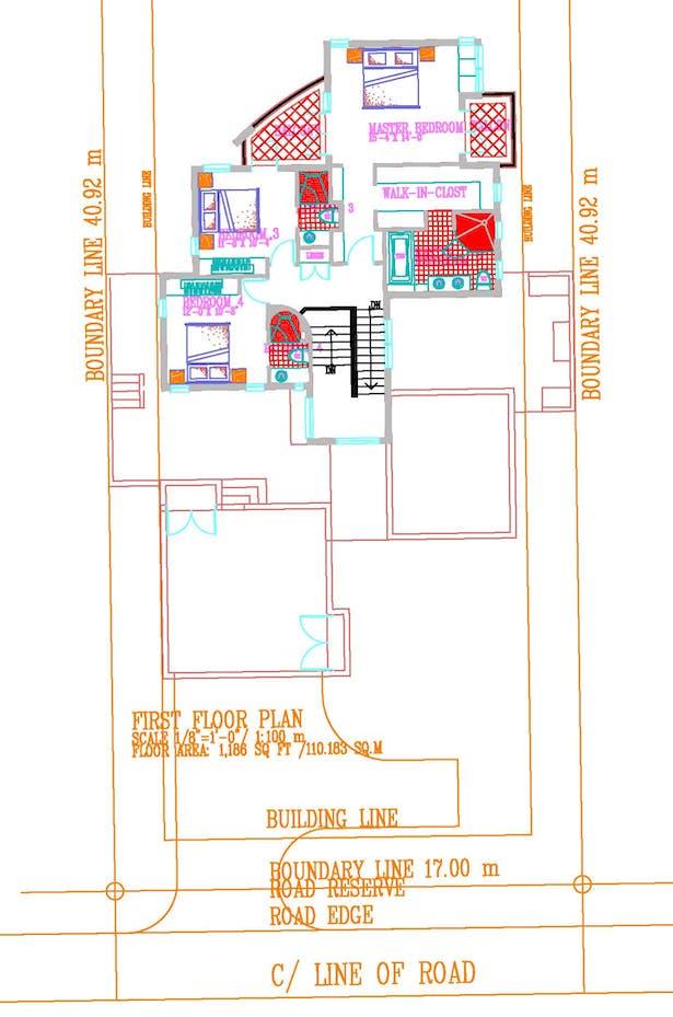 Orginal First Floor Plan (AutoCAD)