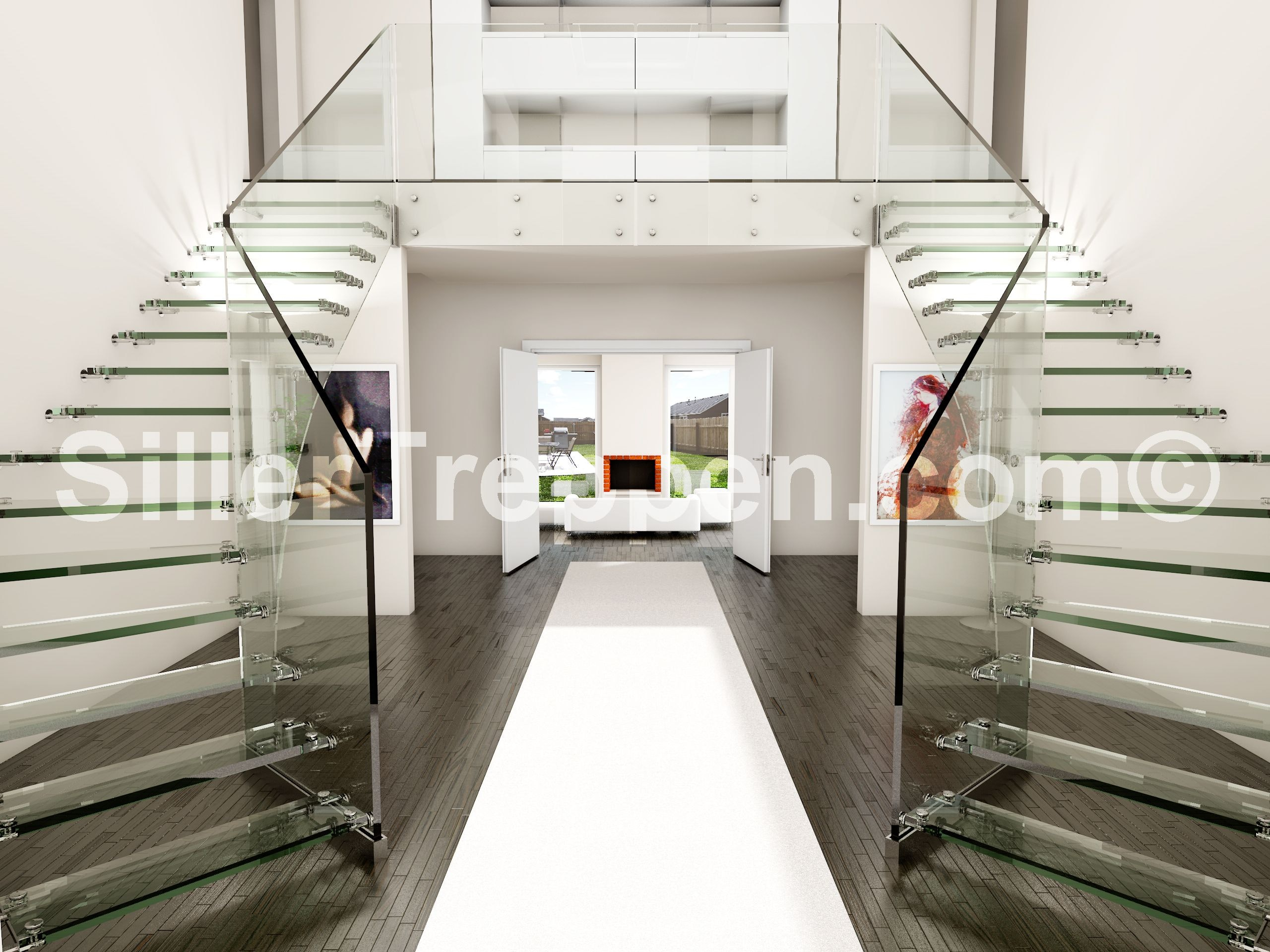 Double Glass Stair Design