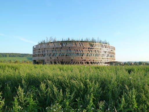 Alésia Museum by Bernard Tschumi Architects. Photo by Bernard Tschumi Architects.