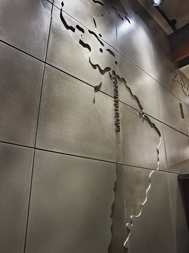 World Map Wall Feature - Starbucks Toronto. | Anthony ...
