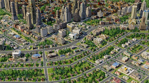 This fantasy town built in SimCity5 might be battling the problem of homelessness just like any other 'real' town. (Image via simcity.com)