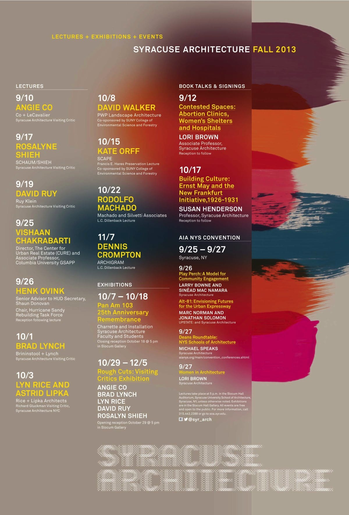 get lectured syracuse university fall 13 news archinect
