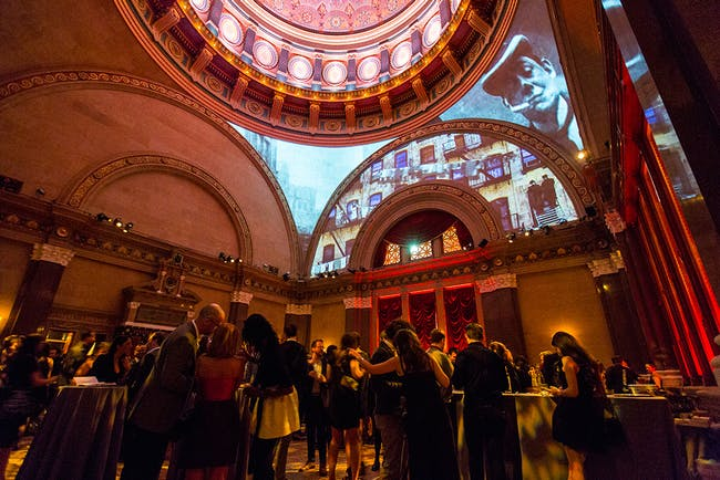 2014 Beaux Arts Ball: Craft. Projection by PellOverton Architects. Photo by Mercedes Noriega