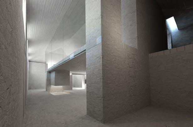 view to 'shower', 'kitchen', 'solitude corner', level 1