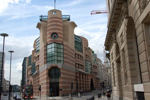 "Listed as Grade II heritage by Historic England in 2016: London's No 1 Poultry by James Sterling. Photo: James Stringer/<a href=""https://www.flickr.com/photos/jamesstringer/3002549530/"">Flickr</a>"