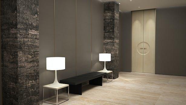 Hallway - Rendering by Matthias Kisch