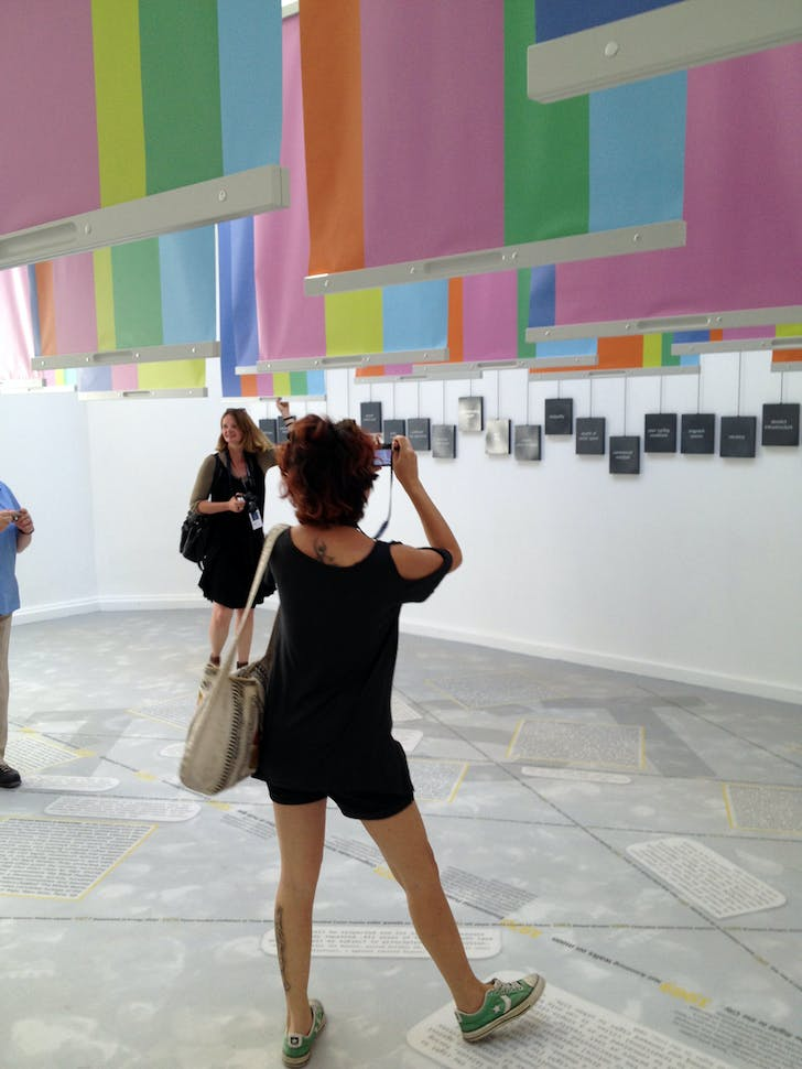 'Spontaneous Interventions: Design Actions for the Common Good' presents an ambitious cross-section of design activism throughout the United States. Designed by Freecell, M-A-D, and Interboro, this installation featured dual-sided pull-down posters which tied the individual entries with a...