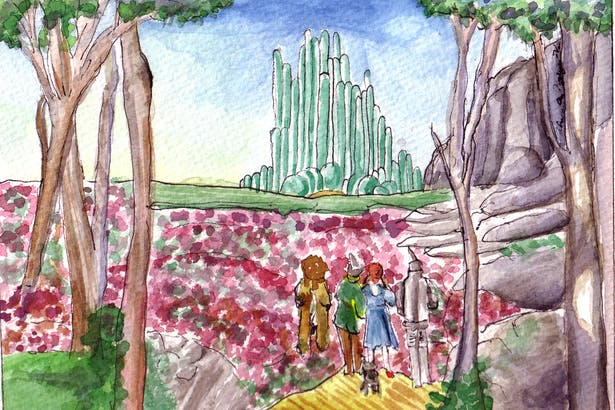A gift to a fan of the Wizard of Oz.