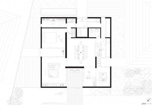 House Yagiyama in Sendai, Japan (plan) by Kazuya Saito Architects photographed by Yasuhiro Takagi