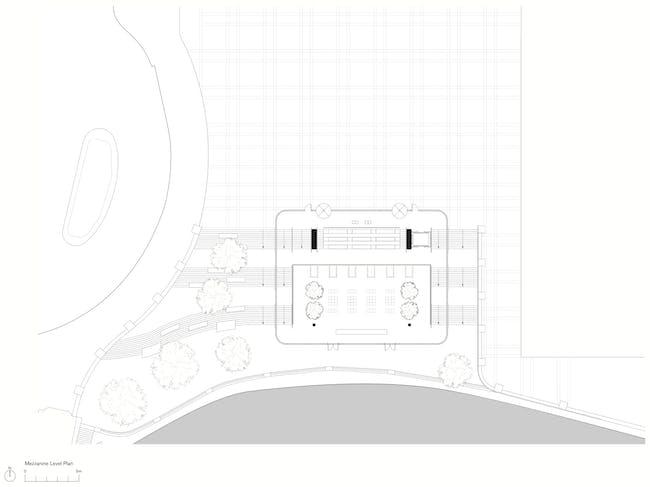 Mezzanine Level Plan. Apple Store, Chicago, (c) Foster + Partners