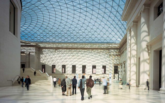 Old ans new architecture working intandem to create the Grand Court spaceImage credit: Foster + Partners