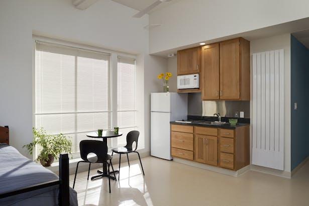 Second floor studio apartment