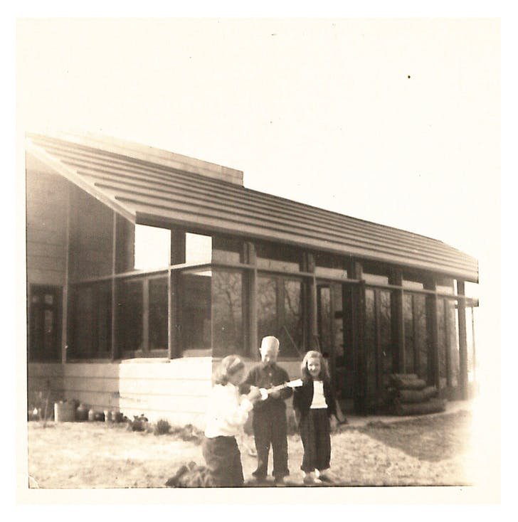 Sweeton House ca. 1954. Photo by Muriel and J A Sweeton, the original homeowners.