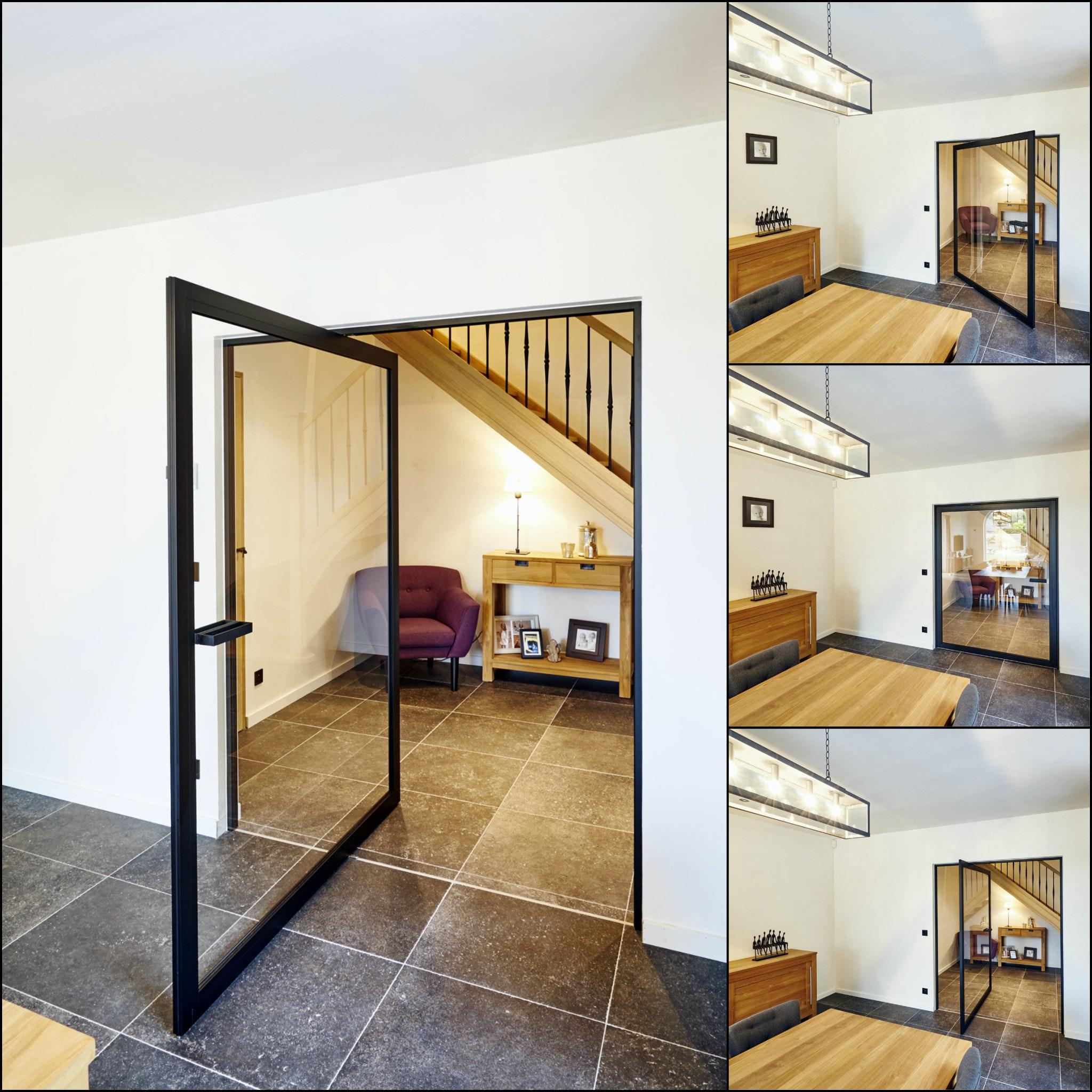 Steel Interior Door Concept With Pivoting Hinges