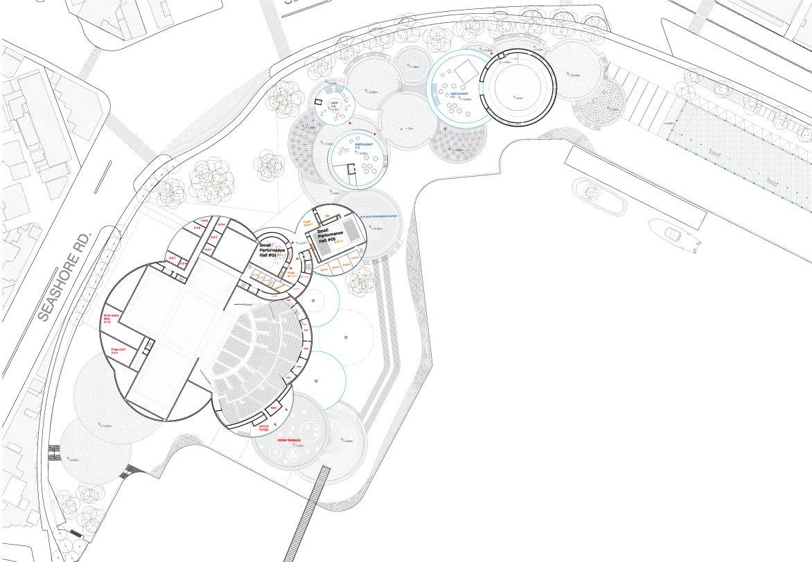 kaohsiung maritime cultural  u0026 pop music center proposal by kubota  u0026 bachmann architects