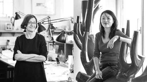 Sheila O'Donnell (L) and Xu TianTian (R). Image via O'Donnell + Tuomey and Eric Gregory Powell (WSJ)