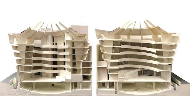 Studio Model Existing Building Open